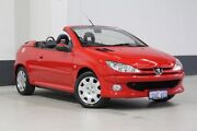 2006 Peugeot 206 CC Red 4 Speed Tiptronic Cabriolet Bentley Canning Area Preview