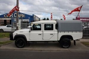 2007 Land Rover Defender 130 07MY Crew Cab White 6 Speed Manual Cab Chassis