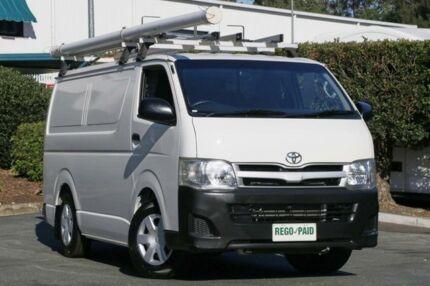 2010 Toyota Hiace KDH201R MY11 LWB White 5 Speed Manual Van