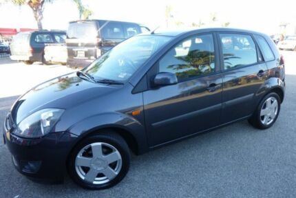 2007 Ford Fiesta WQ Ghia Charcoal Grey 4 Speed Automatic Hatchback Heatherton Kingston Area Preview