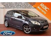 2013 Ford C-MAX 1.0T ( 125ps ) EcoBoost Titanium X-TURBO-PAN ROOF-HEATED SEATS-