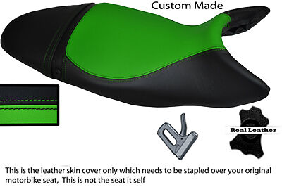 BLACK AND GREEN CUSTOM 07 12 FITS TRIUMPH STREET TRIPLE 675 LEATHER SE