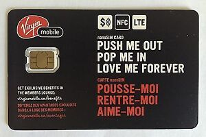 Virgin Mobile SIM Card - NEW ! West Island Greater Montréal image 1