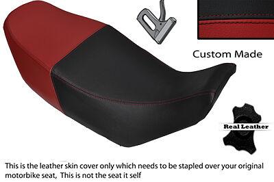 BLACK AND DARK RED CUSTOM FITS <em>YAMAHA</em> XJ 600 84 91 LEATHER DUAL SEAT C