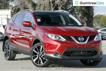 2017 Nissan Qashqai Ti TI Magnetic Red Constant Variable Wagon