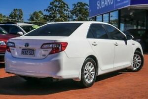 2012 Toyota Camry AVV50R Hybrid H White 1 Speed Constant Variable Sedan Hybrid