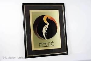 Vintage Erte L'Amour Signed Print Poster Lithograph Art Deco Narre Warren Casey Area Preview