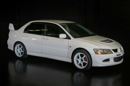 2003 Mitsubishi Lancer CZ Evolution VIII White 6 Speed Manual Sedan