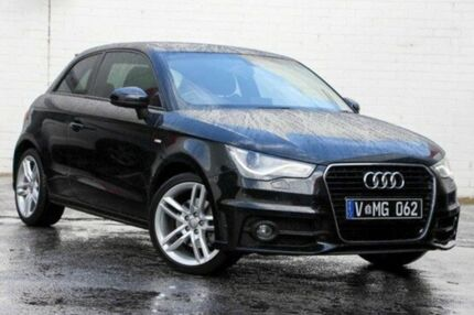 2012 Audi A1 8X MY13 Sport S tronic Black 7 Speed Sports Automatic Dual Clutch Hatchback