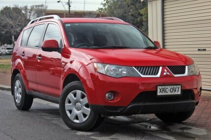 2006 Mitsubishi Outlander ZG MY07 LS Red 6 Speed Constant Variable Wagon Glenelg Holdfast Bay Preview
