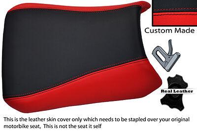 BLACK AND RED CUSTOM FITS <em>YAMAHA</em> YZF 750 93 98 LEATHER SEAT COVER