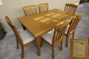 Solid Tasmanian Oak 1.5m dining + 6 chairs Little Bay Eastern Suburbs Preview