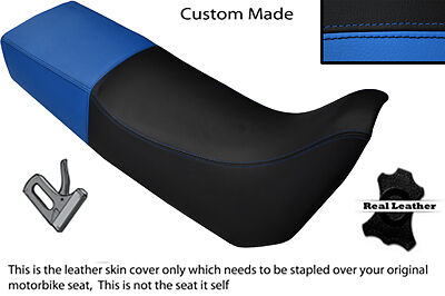 BLACK AND LIGHT BLUE CUSTOM FITS TRIUMPH TIGER 885 I DUAL LEATHER SEAT