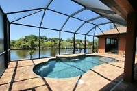 Southwest Florida Gulf access 3 bedroom house for rent