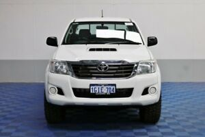 2013 Toyota Hilux KUN26R MY12 SR (4x4) White 4 Speed Automatic