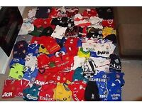 Wanted - sports/football shirts collection job lot- clothing recycling/charity shops- cash waiting!!