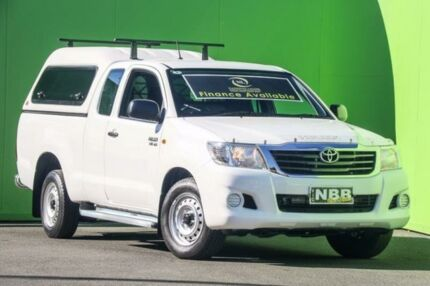 2014 Toyota Hilux GGN15R MY14 SR Xtra Cab White 5 Speed Automatic Utility