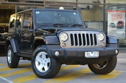2014 Jeep Wrangler JK MY2014 Unlimited Freedom Black 6 Speed Manual Softtop Burnside Melton Area Preview