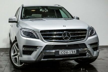 2013 Mercedes-Benz ML350 W166 BlueTEC 7G-Tronic + Silver 7 Speed Sports Automatic Wagon