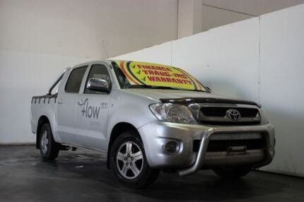 2010 Toyota Hilux GGN15R 09 Upgrade SR5 Silver 5 Speed Automatic Dual Cab Pick-up