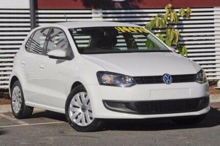 2013 Volkswagen Polo 6R MY13.5 Trendline DSG White 7 Speed Sports Automatic Dual Clutch Hatchback
