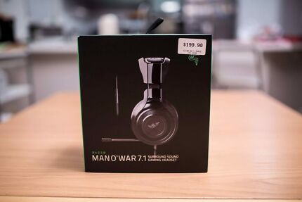 BRAND NEW Razer Man-O-War headset 7.1 Surround sound with receipt