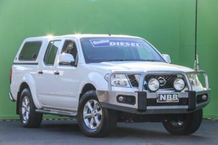 2013 Nissan Navara D40 S6 MY12 ST White 5 Speed Sports Automatic Utility Ringwood East Maroondah Area Preview