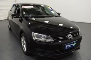 2013 Volkswagen Jetta 1KM MY13.5 118 TSI Black 7 Speed Auto Direct Shift Sedan