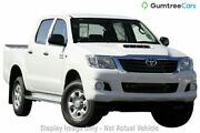 2013 Toyota Hilux KUN26R MY12 SR Double Cab White 4 Speed Automatic Utility Kedron Brisbane North East Preview