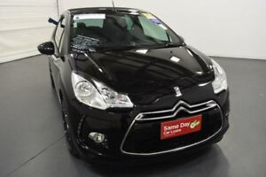 2013 Citroen DS3 MY13 Dsport Black 6 Speed Manual Cabriolet
