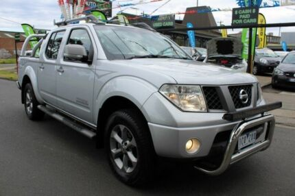 2009 Nissan Navara D40 Titanium Silver 6 Speed Manual Utility West Footscray Maribyrnong Area Preview