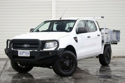 2014 Ford Ranger PX XL Double Cab White 6 Speed Sports Automatic Cab Chassis