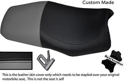 BLACK AND GREY CUSTOM 98 03 FITS <em>YAMAHA</em> FZS 600 REAL LEATHER SEAT COVE