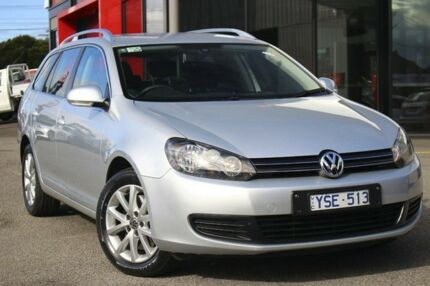 2011 Volkswagen Golf VI MY12 118TSI DSG Comfortline Silver 7 Speed Sports Automatic Dual Clutch