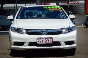 2012 Honda Civic 9th Gen Ser II VTi Taffeta White 5 Speed Sports Automatic Sedan
