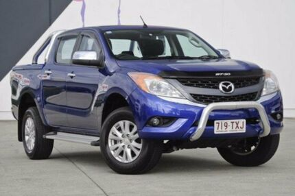 2014 Mazda BT-50 UP0YF1 XTR 4x2 Hi-Rider Blue 6 Speed Sports Automatic Utility