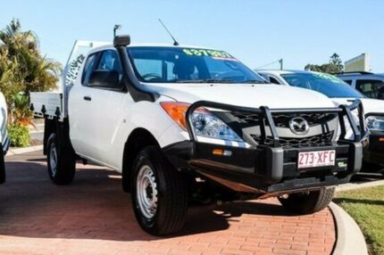 2014 Mazda BT-50 UP0YF1 XT Freestyle Cool White 6 Speed Manual Cab Chassis
