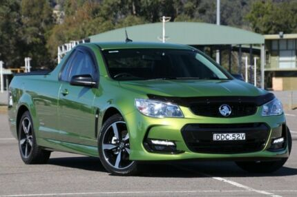 2016 Holden Ute VF II MY16 SV6 Ute Black Jungle Green 6 Speed Manual Utility West Gosford Gosford Area Preview