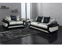⭕🛑CHEAPEST PRICE EVER⭕🛑BRAND NEW Dino Crush Velvet corner or 3+2 sofa - same day delivery