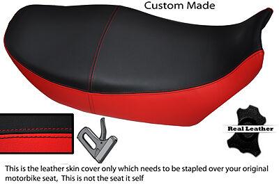 BLACK AND RED CUSTOM FITS <em>YAMAHA</em> XJ 900 F REAL LEATHER DUAL SEAT COVER
