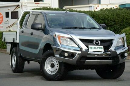 2013 Mazda BT-50 UP0YF1 XT 4x2 Hi-Rider Blue 6 Speed Manual Cab Chassis
