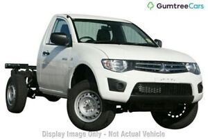 2013 Mitsubishi Triton MN MY13 GLX White 5 Speed Manual Cab Chassis Ringwood East Maroondah Area Preview