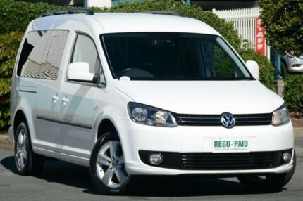 2010 Volkswagen Caddy 2K MY11 TDI250 Wagon Life Maxi DSG White 7 Speed Sports Automatic Dual Clutch