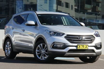 2016 Hyundai Santa Fe DM Series II (DM3) Elite CRDi (4x4) Silver 6 Speed Automatic Wagon