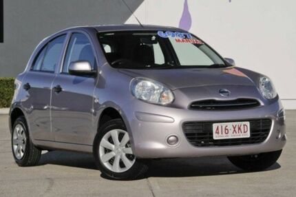 2011 Nissan Micra K13 ST Purple 5 Speed Manual Hatchback Rothwell Redcliffe Area Preview