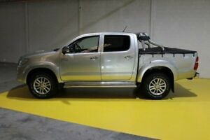 2013 Toyota Hilux KUN26R MY12 SR Double Cab Silver 5 Speed Manual Utility