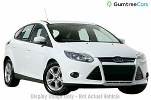 2014 Ford Focus LW MKII MY14 Trend PwrShift White 6 Speed Sports Automatic Dual Clutch Hatchback