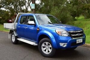 2010 Ford Ranger PK XLT Crew Cab Blue 5 Speed Automatic Utility St Marys Mitcham Area Preview