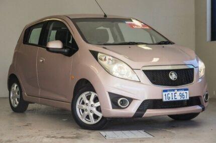 2011 Holden Barina Spark MJ MY11 CD Pink 5 Speed Manual Hatchback