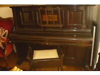 Crane & Sons Ltd. Manchester and Liverpool piano and stool